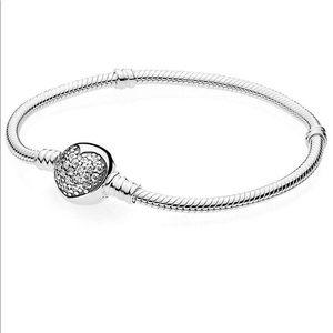 Pandora Sparkling Heart Bracelet